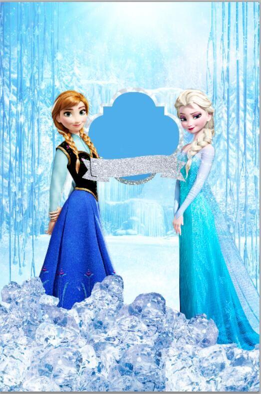 5x7FT королева Эльза анна принцесса снег водопад лед пользовательские Фотостудия фоны Виниловые 150 см x 220 см