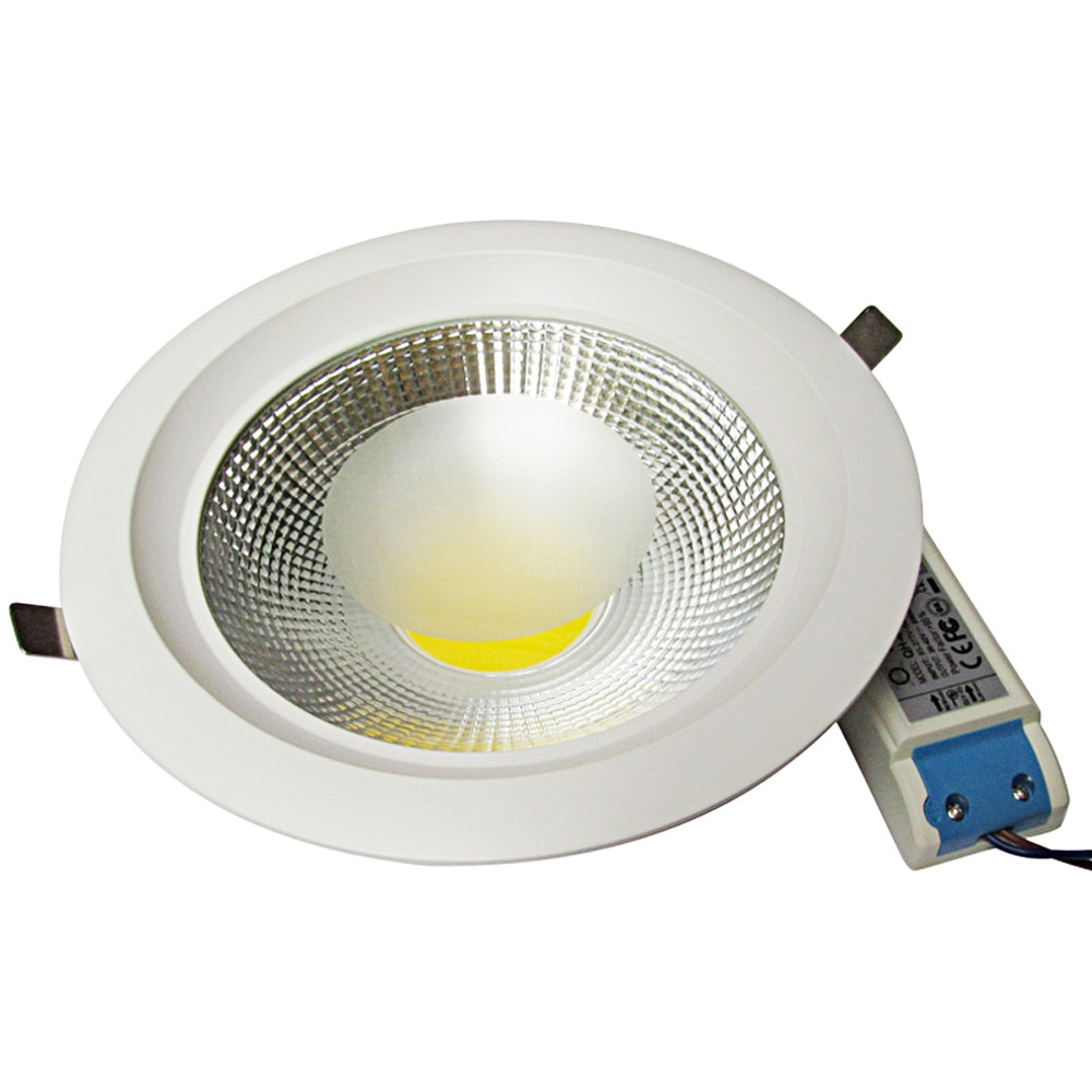 2018 dimmable 110v/220v white 4000k 3W-30W cob LED downlight  Recessed LED Ceiling lamp Spot Led led lamp for bathroom/Home ip65