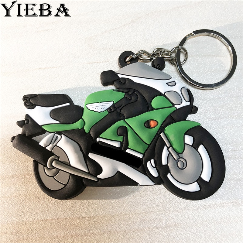 Мотоцикл брелок крутой брелок Мягкая резиновая мото брелок Универсальный для KAWASAKI Z800 Z750 Z1000 NINJA 300