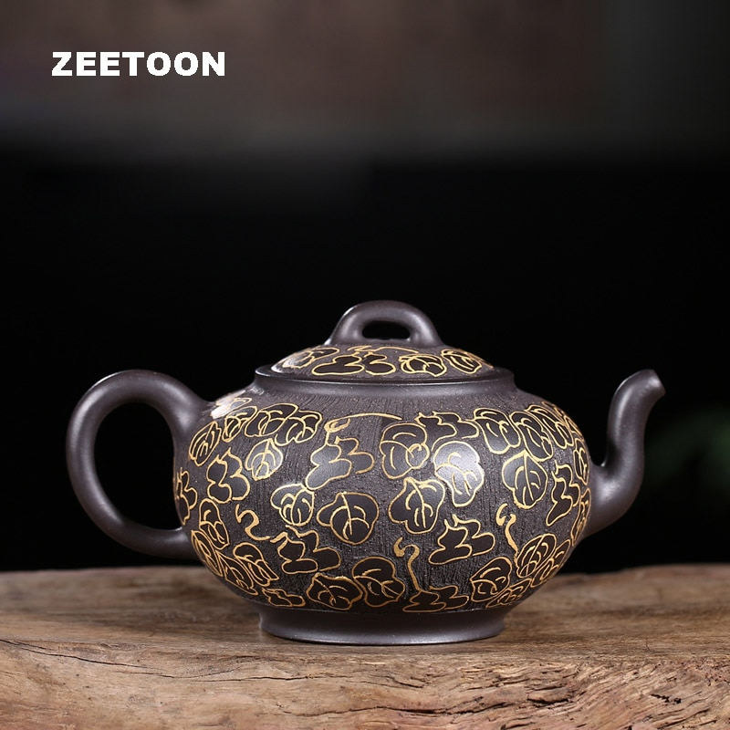 Tetera Yixing auténtica de 225 CC, tetera china de arcilla púrpura saludable, tetera Fulu Master hecha a mano Zisha, tetera creativa Vintage