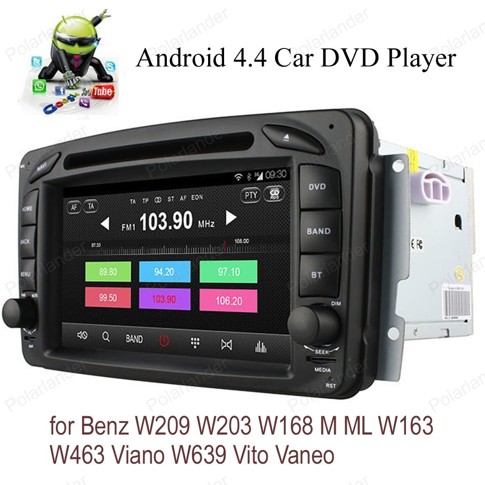 Android4.4 Автомобильный DVD Радио для B/enz W209 W203 W168 M ML W163 W463 V/iano W639 V/ito V/aneo четырехъядерный wifi 3G BT GPS DAB