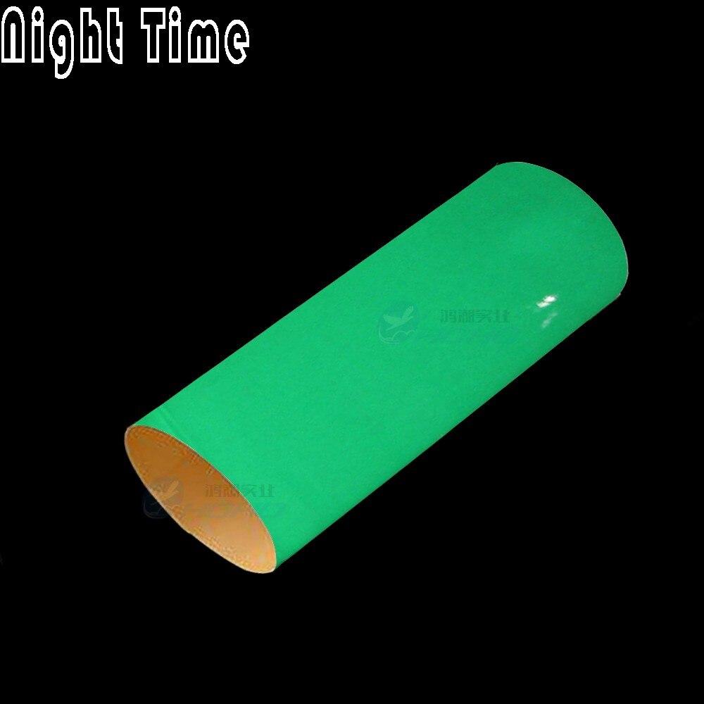 SUNICE, pegatina de revestimiento para coche luminiscente, tinte verde que brilla en la oscuridad, película de embalaje de bicicleta para Motor de coche, sin burbujas de aire, 1.52x1m