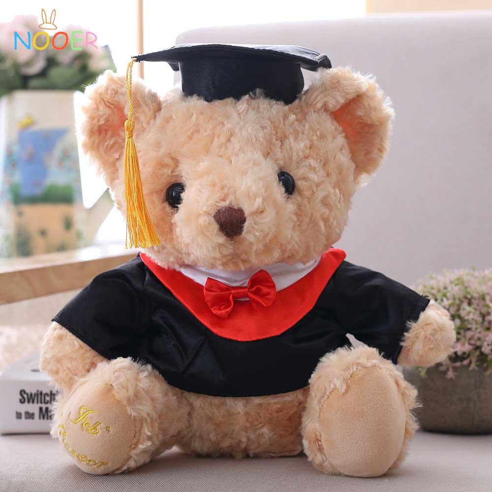 Nooer 28cm Oso de graduación peluche oso de peluche muñeca de peluche regalo de graduación para estudiantes