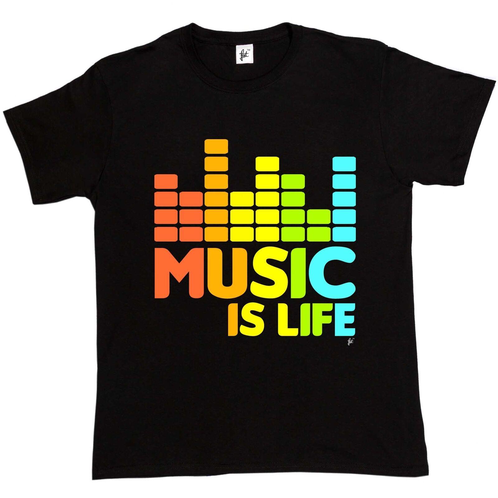 Music Is Life, baile de hip hop, Grunge, Garage Rock, Acid Beat, camiseta para hombre con estampado, camiseta 2019, camiseta de marca a la moda