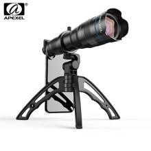 APEXEL HD 36X objectif de téléphone caméra téléobjectif Zoom monoculaire télescope lentille + selfietrépied avec obturateur à distance pour tous les Smartphones