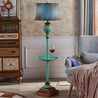Pastoral E27 floor lamps living room study bedroom with tea table creative bedside warm European style floor light ZA911431