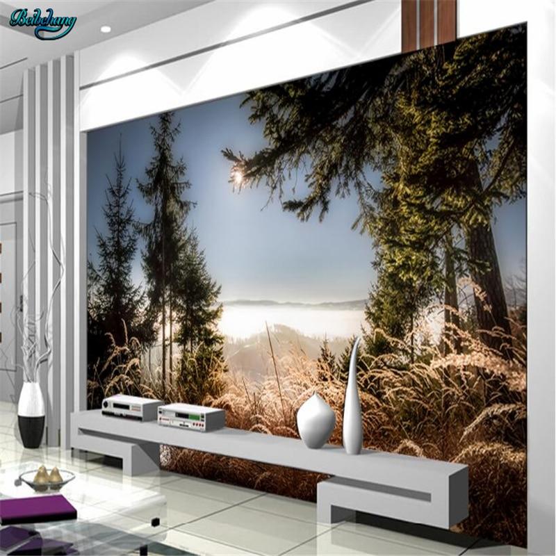 Beibehang papel pintado grande personalizado crepúsculo atardecer estético Pared de paisaje natural decorativo