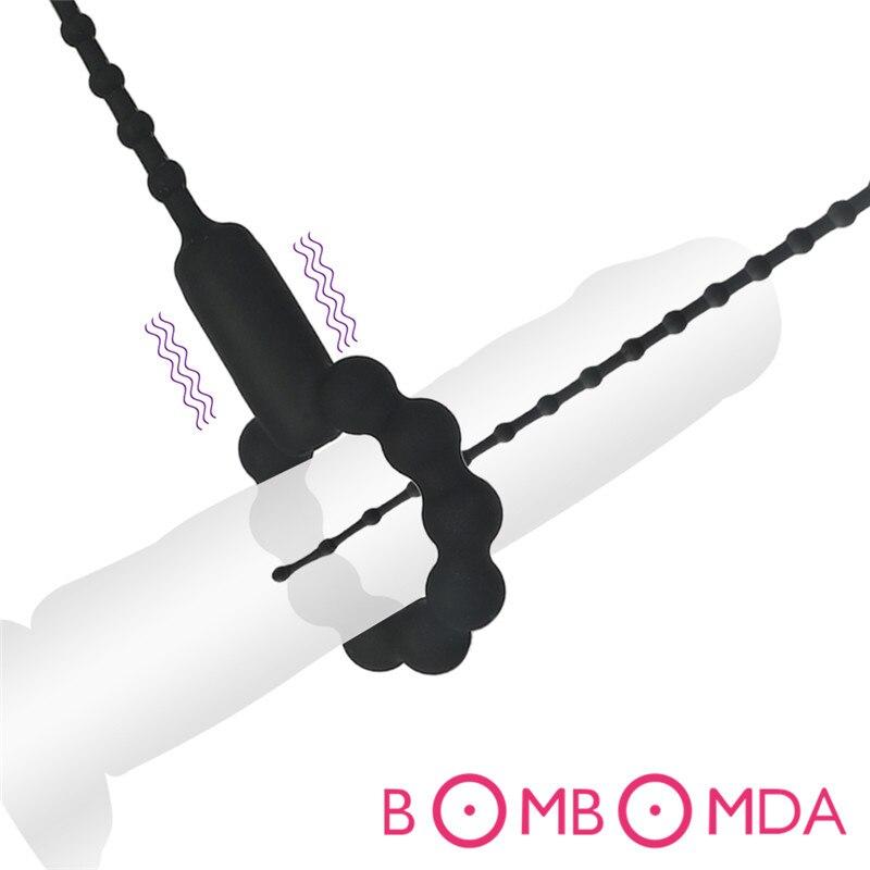 Ejaculation Delay Toys for Adult Urethra Catheter Bullet Vibrator Penis Plug Sex Toys for Men Masturbator Urethra Sound Dilator