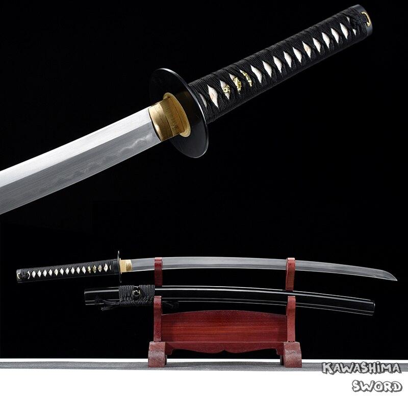 اليدوية كامل تانغ كاتانا T10 الصلب الطين العلاج الحقيقي سيف ساموراي للبيع جاهزة لقطع الخيزران-وصول جديد-ريال espada