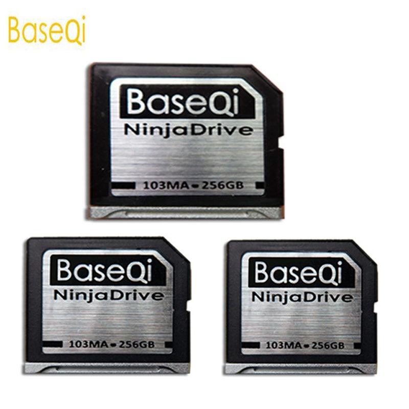 Baseqi النينجا الشبح محرك 256G الألومنيوم Minidrive SD بطاقة ل ماك بوك اير 13 بوصة