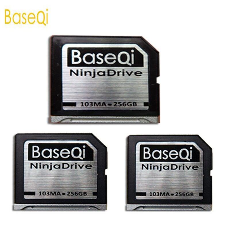 Baseqi Ninja Stealth Drive 256G Aluminum Minidrive SD Card for Macbook Air 13inch