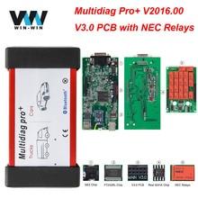 Multidiag Pro + V 3,0 V 2016,00 Freies Keygen NEC Relais Für Autos/Lkw Für BMW OBD OBD2 Bluetooth scanner Auto Diagnose Auto werkzeug