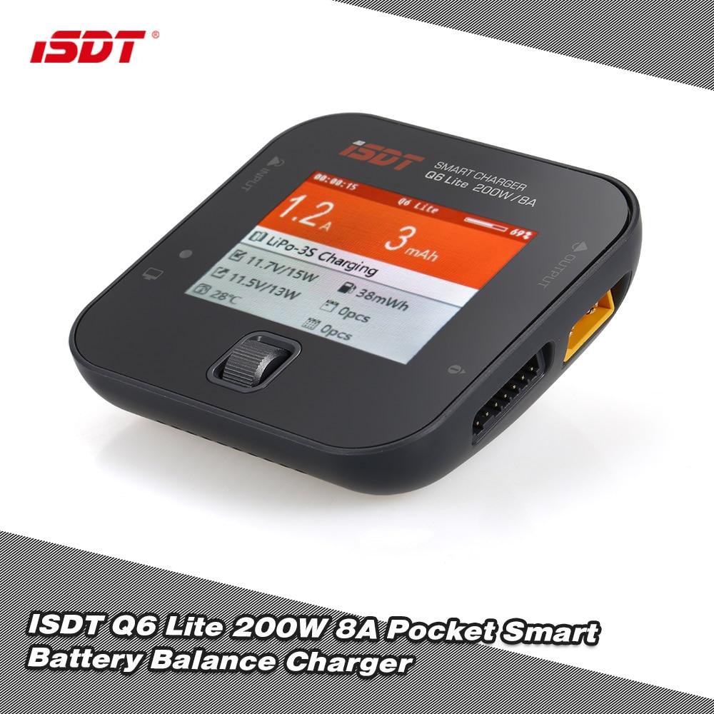 ISDT Q6 Lite/Pro 200/300W 14A de bolsillo mini cargador de equilibrio de batería para piezas de control remoto
