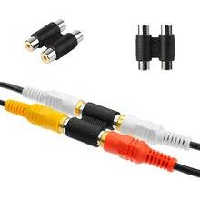 1PC Neue Nützliche Dual RCA Joiner Koppler Stecker Einzel RCA Buchse auf Buchse Audio Video AV Kabel Adapter Stecker