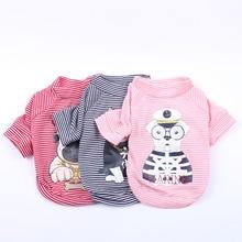 T-Shirt pour animal de compagnie   Rayé Design chien, chien chiot, solide, pyjama T-Shirt printemps/été