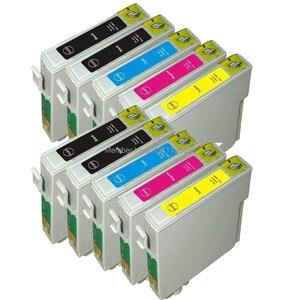 10pk Compatible ink cartridges for stylus SX205 SX210 SX400 SX405 SX510 SX600 SX610 B40W BX300F T0711-T0714