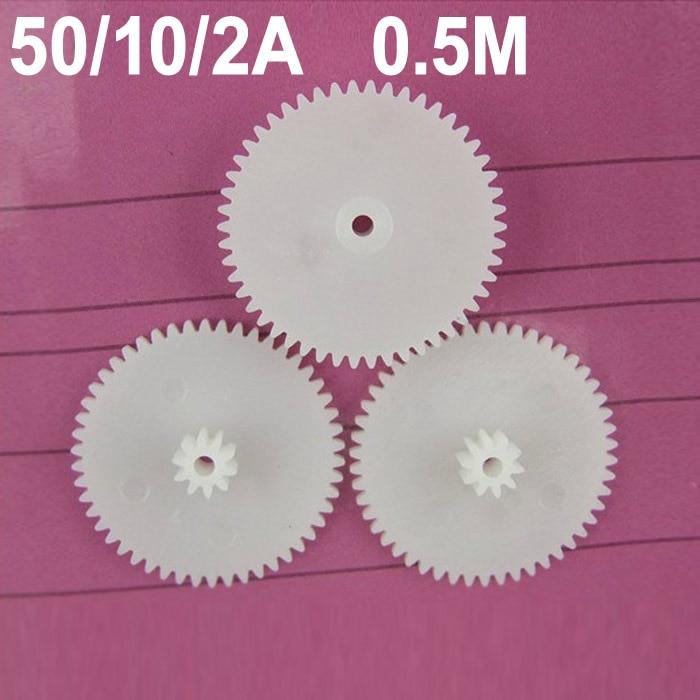 حار بيع (100 قطعة/الوحدة) 50102A 0.5M 1.95 مللي متر رمح حفرة البلاستيك لعب تخفيض والعتاد 50t 10t-2a والعتاد عجلات (تقبل التجزئة)