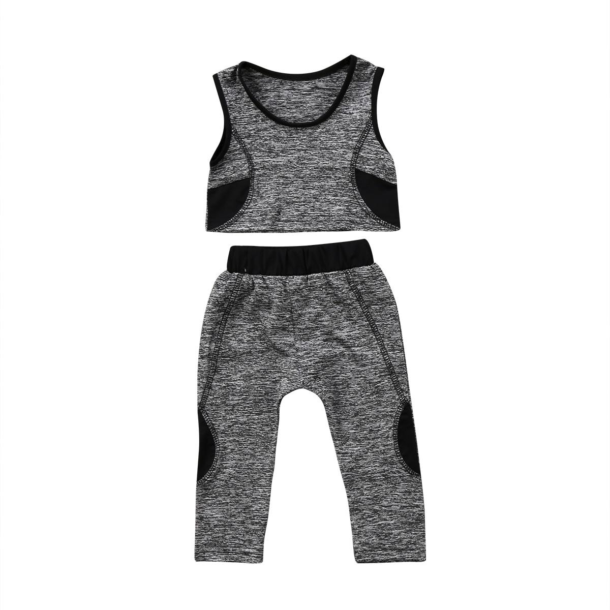 Conjunto de ropa para yoga, chaleco, pantalones cortos, Leggings elásticos, atuendos deportivos a la moda para niños y niñas
