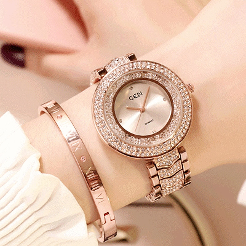 2019 Super Bling Women Watches Casual Dress Watch Ladies Rhinestone Woman Clock Drop Shipping montre femme