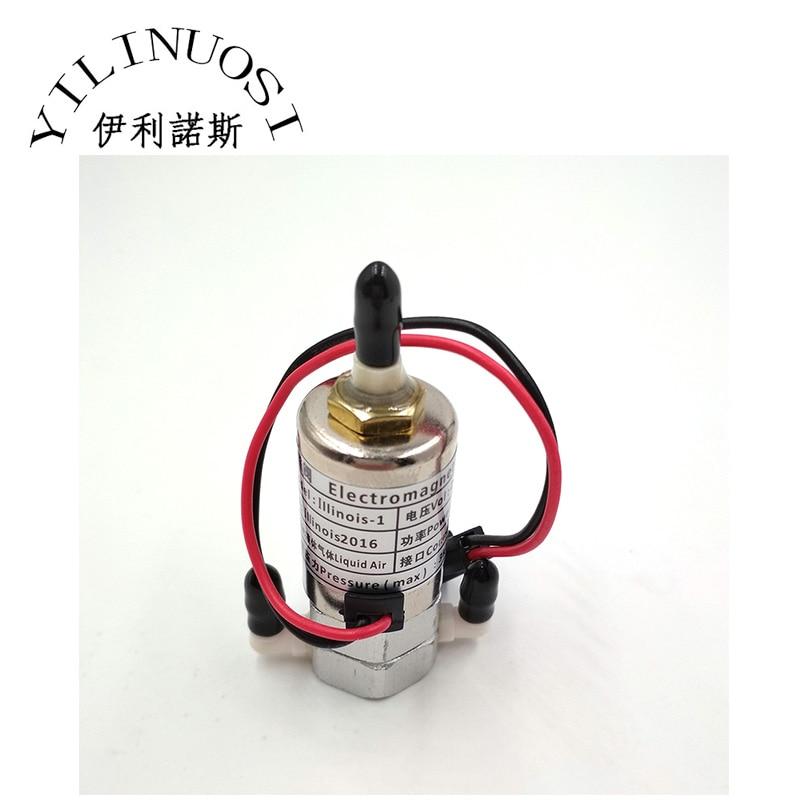 good quality 3way inkjet printer solenoid valve 24v 5 5w for infiniti phaeton crystaljet jhf vista allwin myjet solvent printer Solenoid Electromagnetism Valve / Magnetic Valve for Phaeton / Infiniti / Challenger Printers (DC24V / 5W)