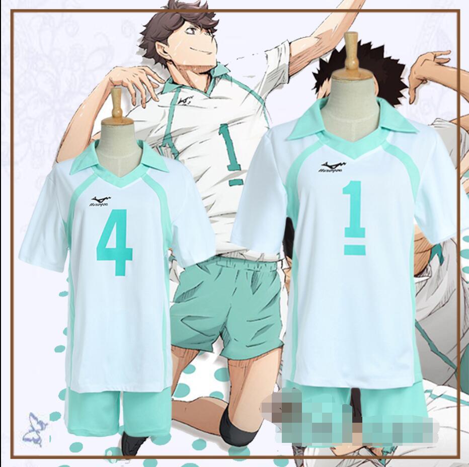 Anime haikyuu Oikawa Tooru cosplay Aoba Johsai alta escola dos desenhos animados de Halloween Unisex Sportswear uniforme cosplay traje Não. 1.4