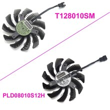 PLD08010S12H T128010SM 75 مللي متر 3Pin 2Pin 12 فولت 0.25A برودة مروحة لجيجابايت GV-N960O GV-N960WF2OC-2GD بطاقة جرافيكس مروحة التبريد