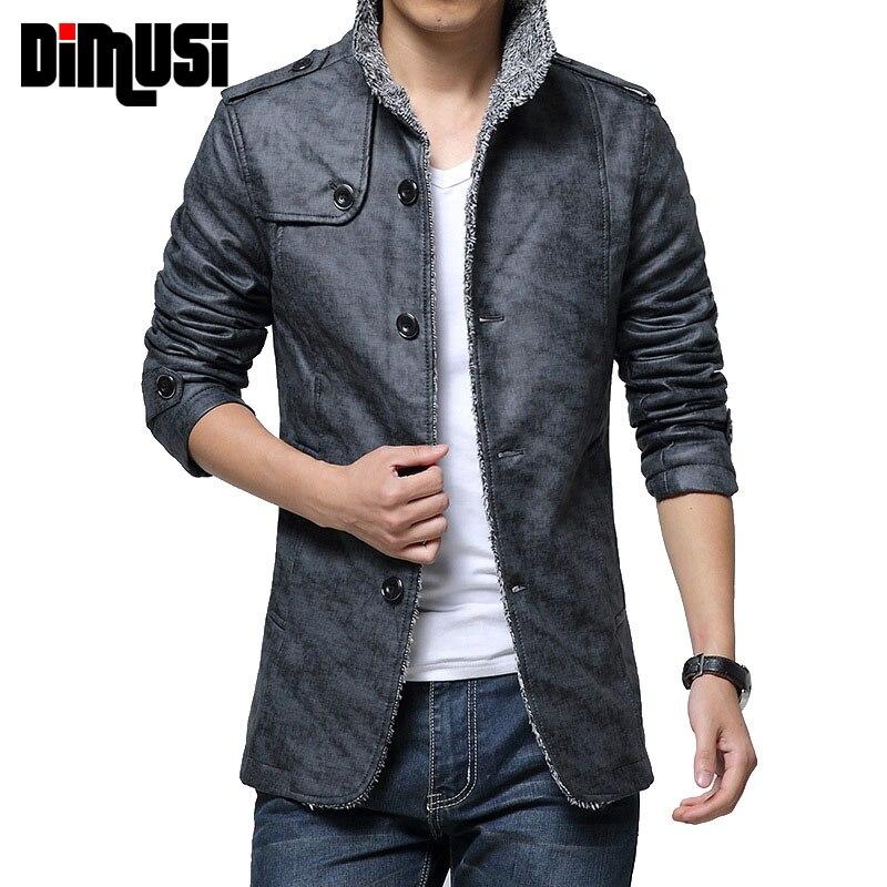 Dimusi jaqueta masculina de couro, de lã, grossa, térmica, com gola, couro falso, ya519