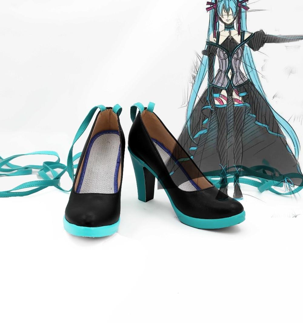 Nuevos zapatos de Cosplay de VOCALOID Hatsune Miku, botas de fiesta hechas a medida