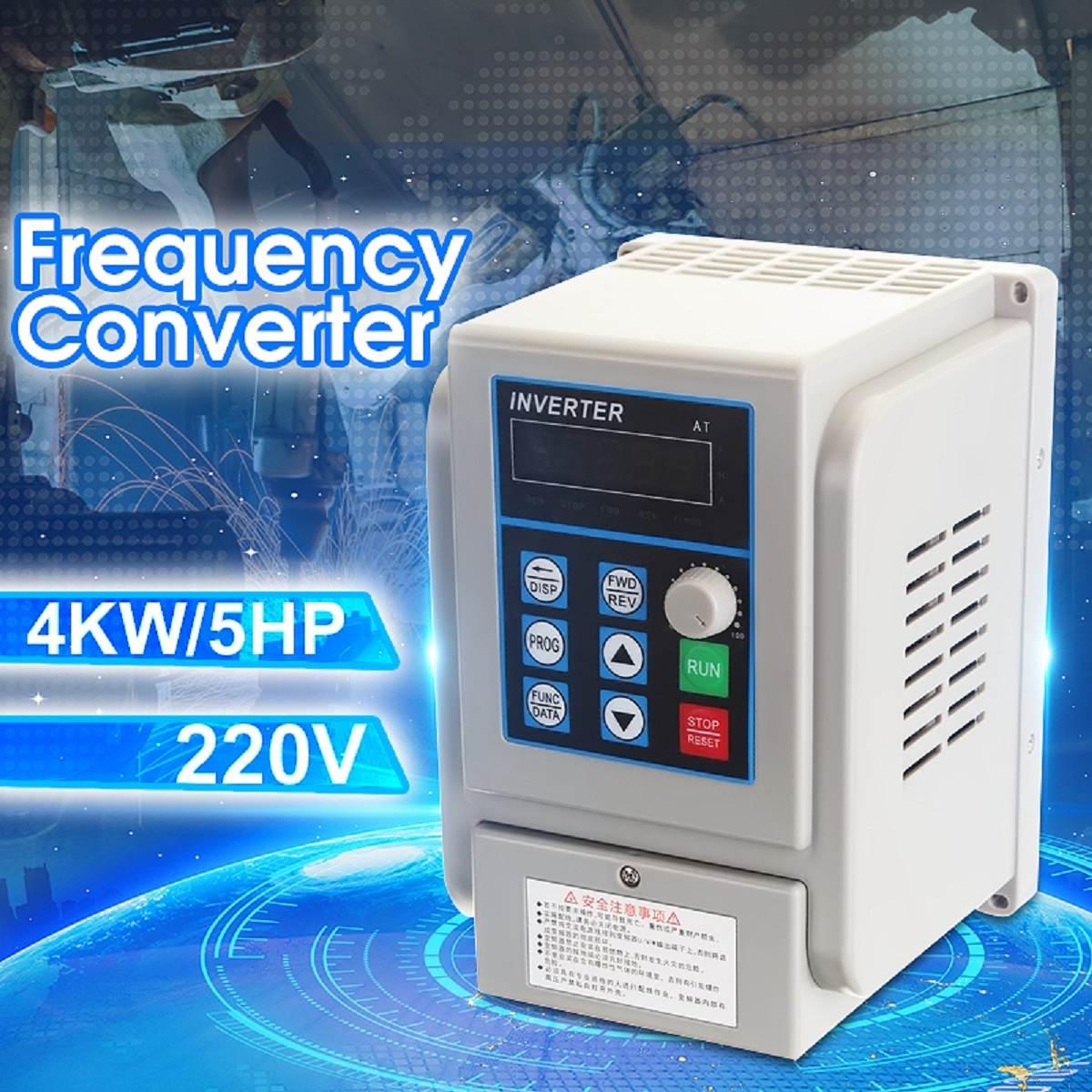 4KW 220V 20A fase única entrada 3 fase de salida PWM convertidor de frecuencia inversor CNC velocidad del Motor 5HP VFD VSD nuevo 2020