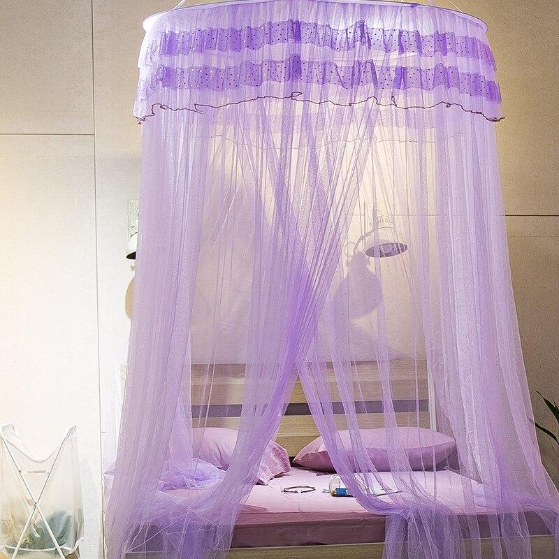 Mosquitera de verano cama tamaño king red colgada cúpula cama princesa dot frescura BUG encaje de cortina tamaño grande 100*270*900cm adulto
