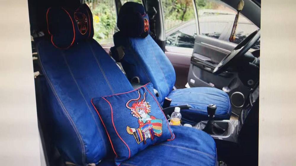 Fundas de tela vaquera personalizadas para asiento de coche Oxford, juego de cojines para Alfa Romeo Boxter, Cayenne cayman Bentley Arnage Flying Spur GT