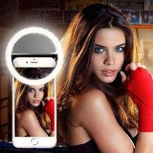 Selfie anel clipe de telefone móvel lente luz lâmpada litwod lâmpadas led bateria seca emergência para câmera foto bem smartphones beleza