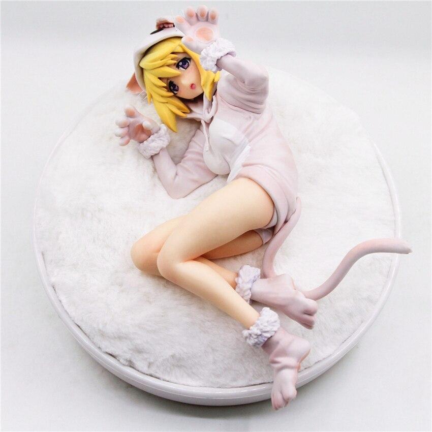 Haocaitoy figurine jouets Necomimi Laura Charlotte Anime figurines Version blanche jouets pour collectionner cadeau 20cm