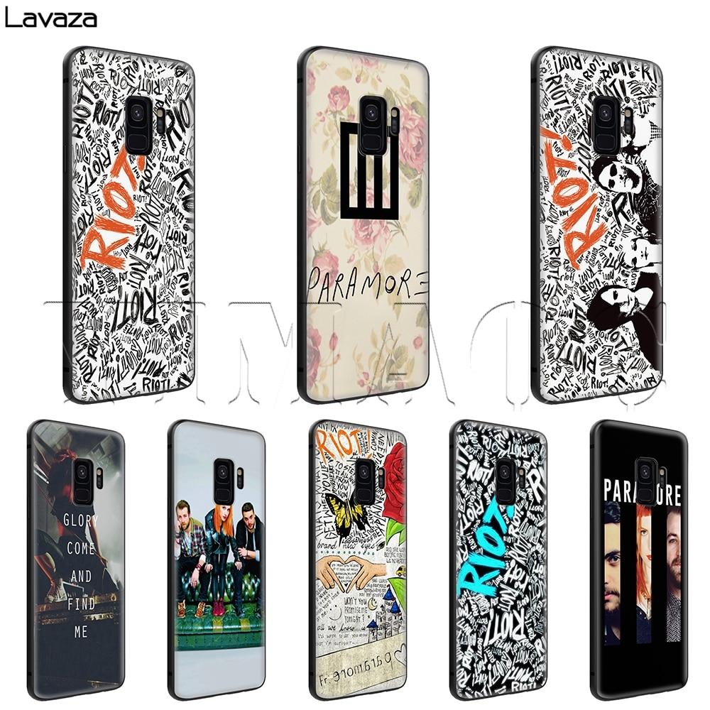Lavaza motín Paramore caso para Samsung Galaxy S6 S7 borde J6 S8 S9 S10 más A3 A5 A6 A7 A8 A9 Nota 8 9