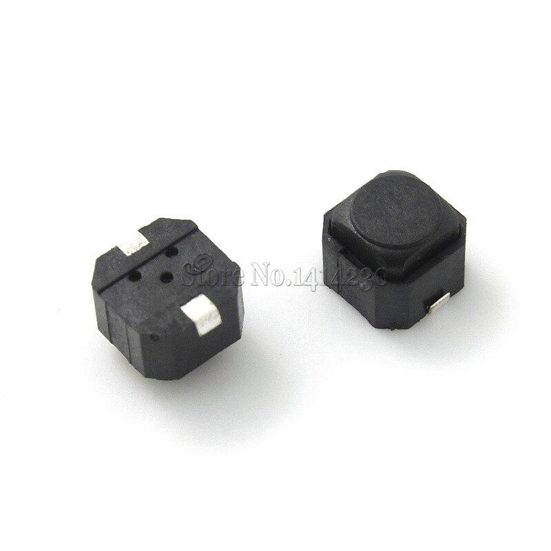 Силиконовый кнопочный переключатель smd, 10 шт., бесшумный сенсорный переключатель 6*6*5 мм, 6x 6x 5 мм, высота 5 мм