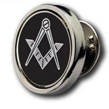 Insigne de revers de pièces de monnaie Masonic noir   Badge de revers religieux personnalisés à bas prix, badges en émail personnalisés bon marché