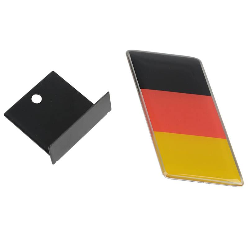 Estilo de coche epoxi alemán Logo de bandera placa frontal Auto emblema de parrilla etiqueta pegatina para coche accesorios Exterior