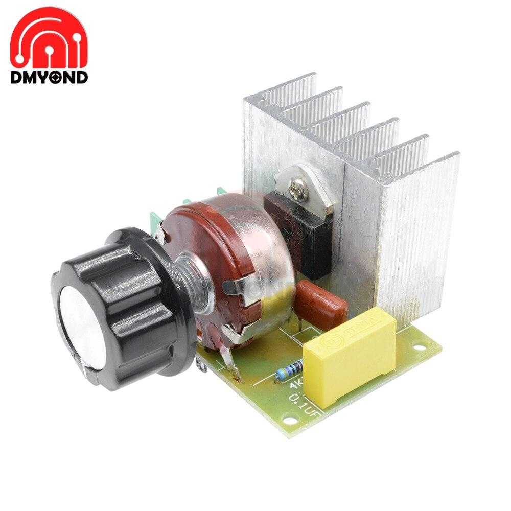Commutateur électronique en silicone   3800W AC 220V importé SCR Thyristor régulateur de tension, moteur vitesse température