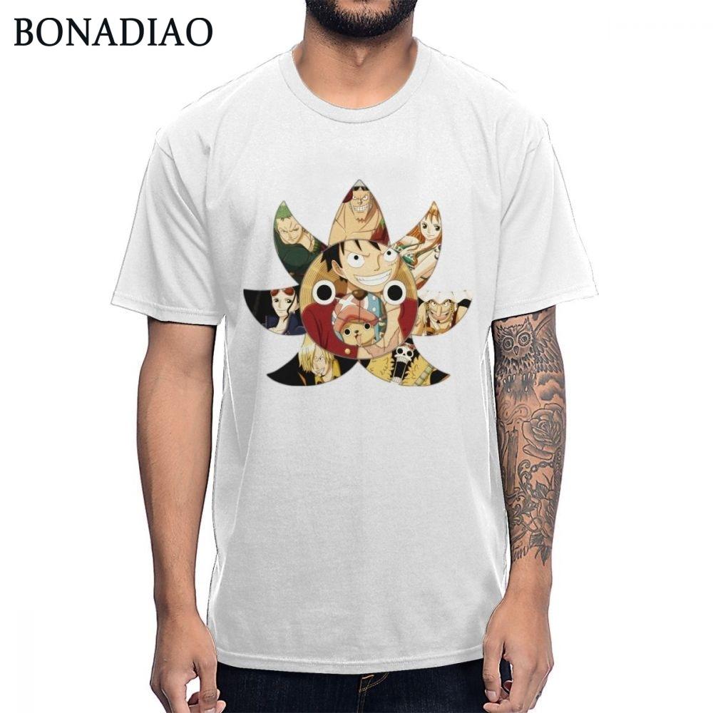 Una pieza mil Sunny Chooper Usopp Brook Zoro Sanji sombrero de paja de Luffy camiseta de hombre Camiseta de talla grande