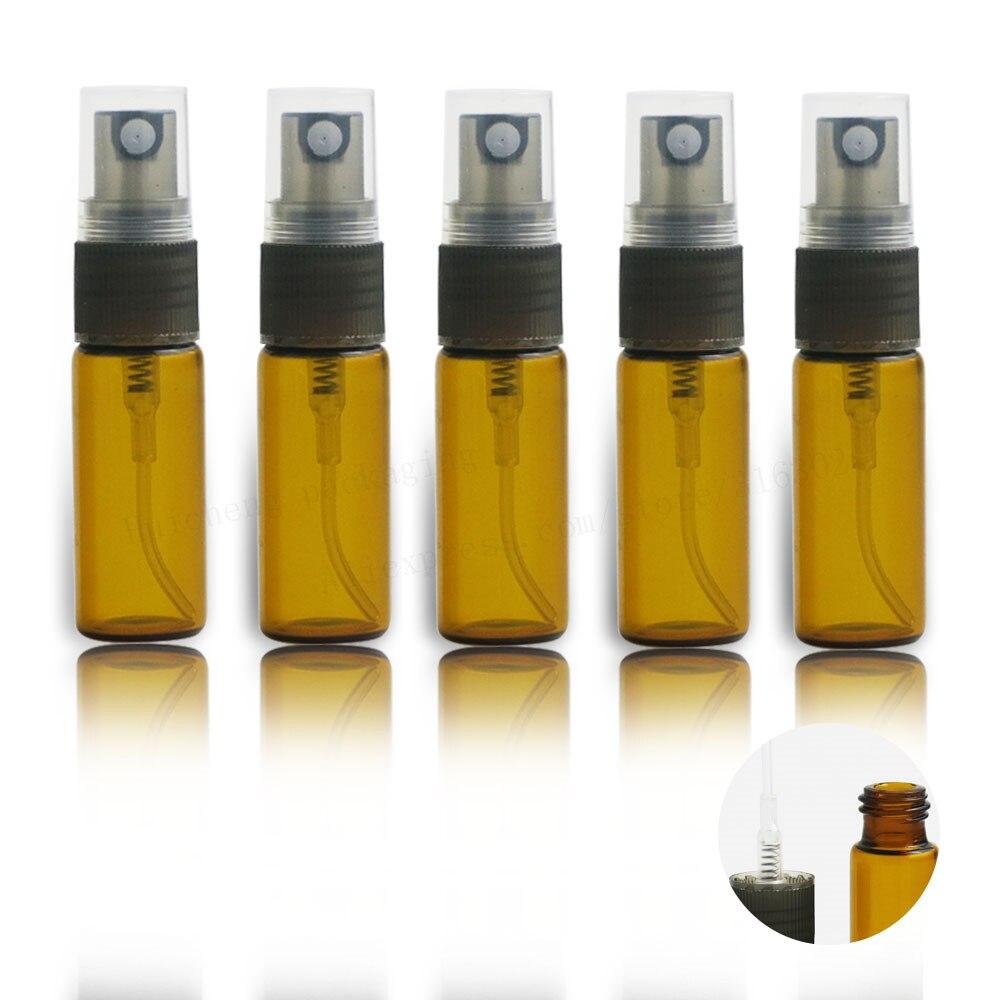 500X5 مللي العنبر سفر صغيرة إعادة الملء زجاجة عطر 1/6oz البني الزجاج العطر البخاخة ميست رذاذ السائل الحاويات