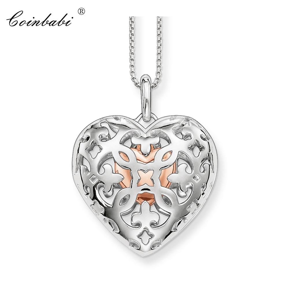 Ожерелье сердце медальон звено цепь душа романтический подарок для женщин, Томас Стиль Glam TS стерлингового серебра 925 пробы модные ювелирные...