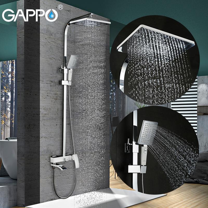 GAPPO الحمام دش صنبور مجموعة البرونزية حوض صنبور خلاط صنبور شلال جدار دش رئيس دش الكروم دش الحنفية GA2407-8
