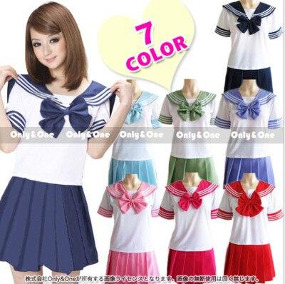 2020 nuevos uniformes Escuela Japonesa sailor tops + tie + skirt Estilo marinero ropa de estudiantes para chica de talla grande Lala ropa de animadora