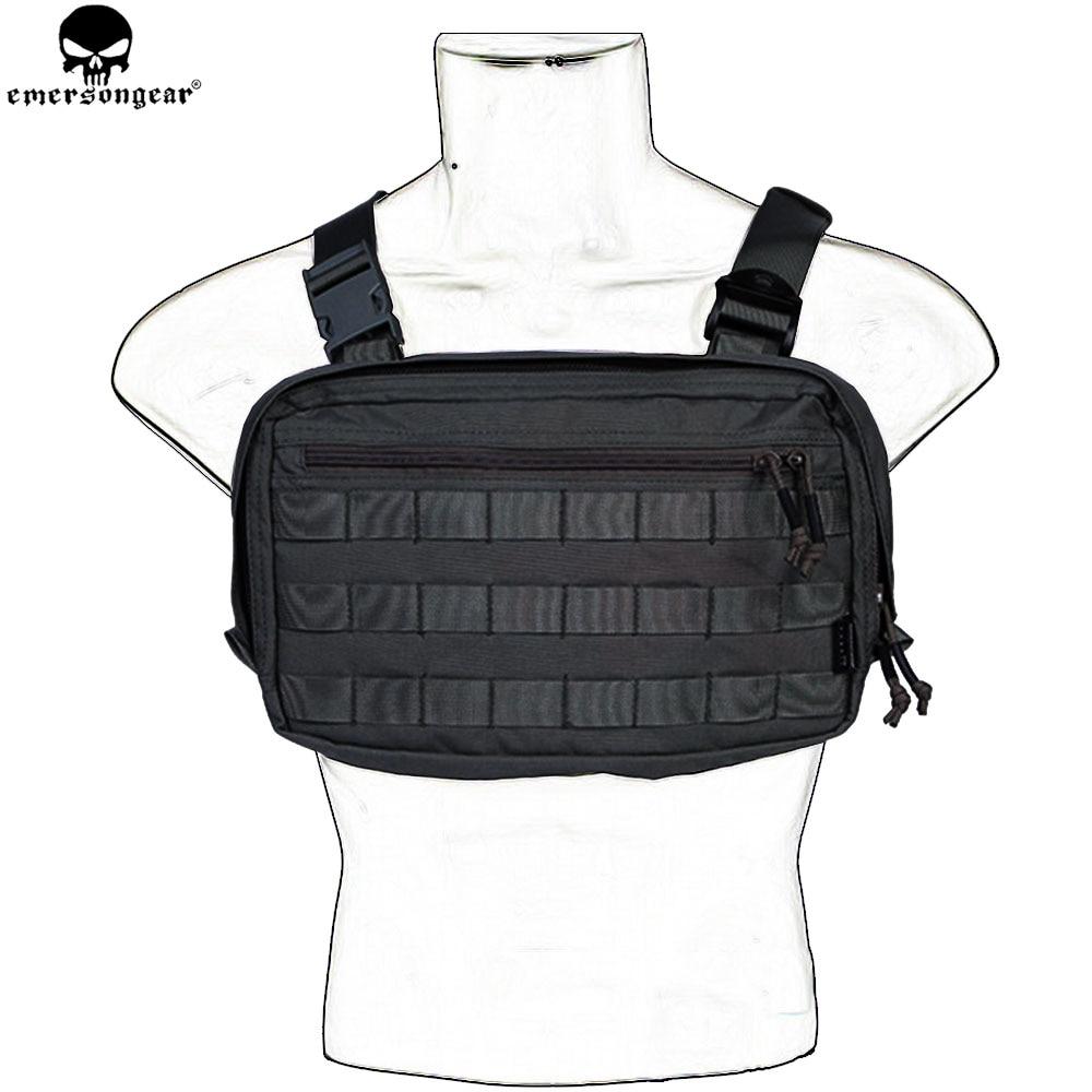 EMERSONGEAR EDC bolsa de pecho Recon bolsa herramienta bolsa de combate táctico chaleco bolsa Multicam negro EM9285
