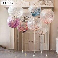 Ballon à Confetti géant transparent 5 pièces 36