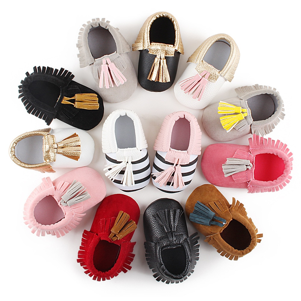 Factory Cheaper Price Baby Shoes Strip Tassel Infant Toddler Spring/Autumn