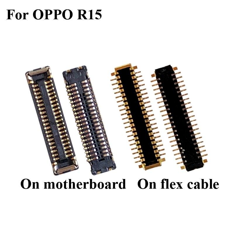 2 piezas para OPPO R 15 R15 FPC conector para OPPO R15 R 15 pantalla LCD en placa base /cable flexible
