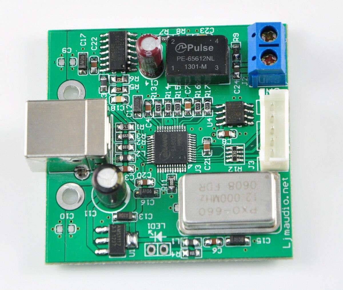 USB к SPDIF коаксиальный I2S процессор TE7022 чип поддерживает 24 бит 96K выборки