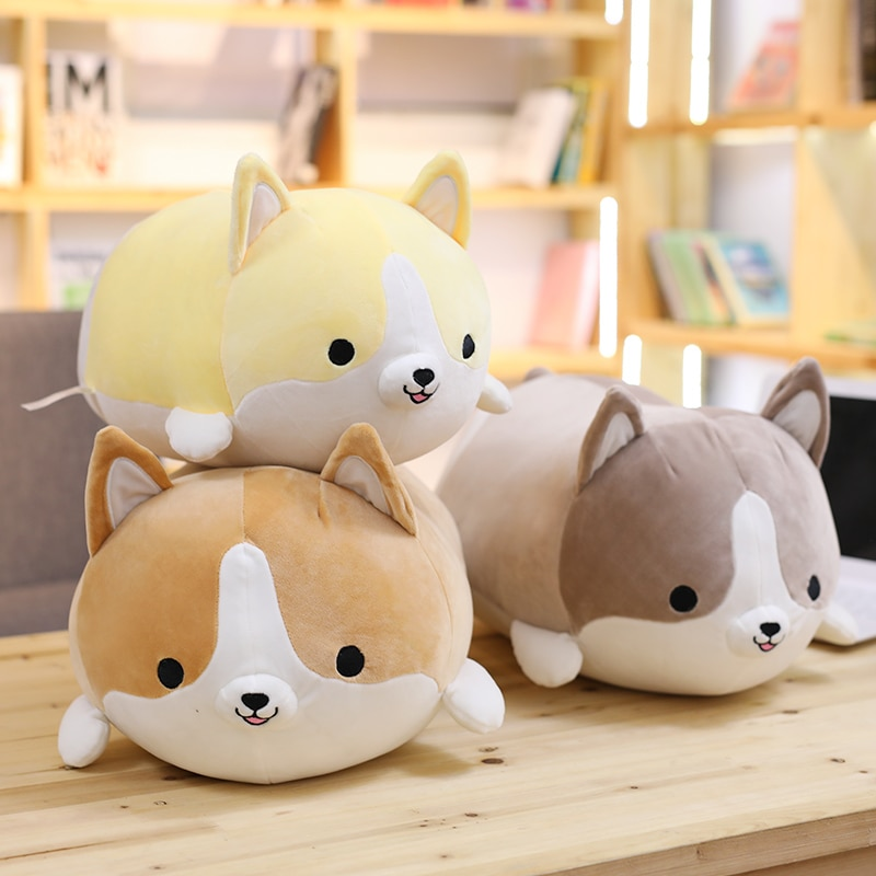 30/45/60cm Cute Corgi Dog Plush Toy Stuffed Soft Animal Cartoon Pillow Lovely Christmas Gift for Kid