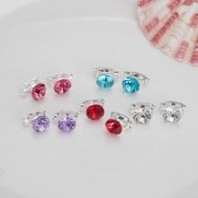 120 Pcs Crystal Hair Decoration Buckle Clip Swirl Spiral Twist Hairpins Tiara Bridal Wedding Jewelry Accessories